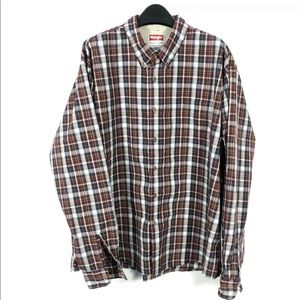 Wrangler Plaid Flannel Long Sleeve Button Shirt